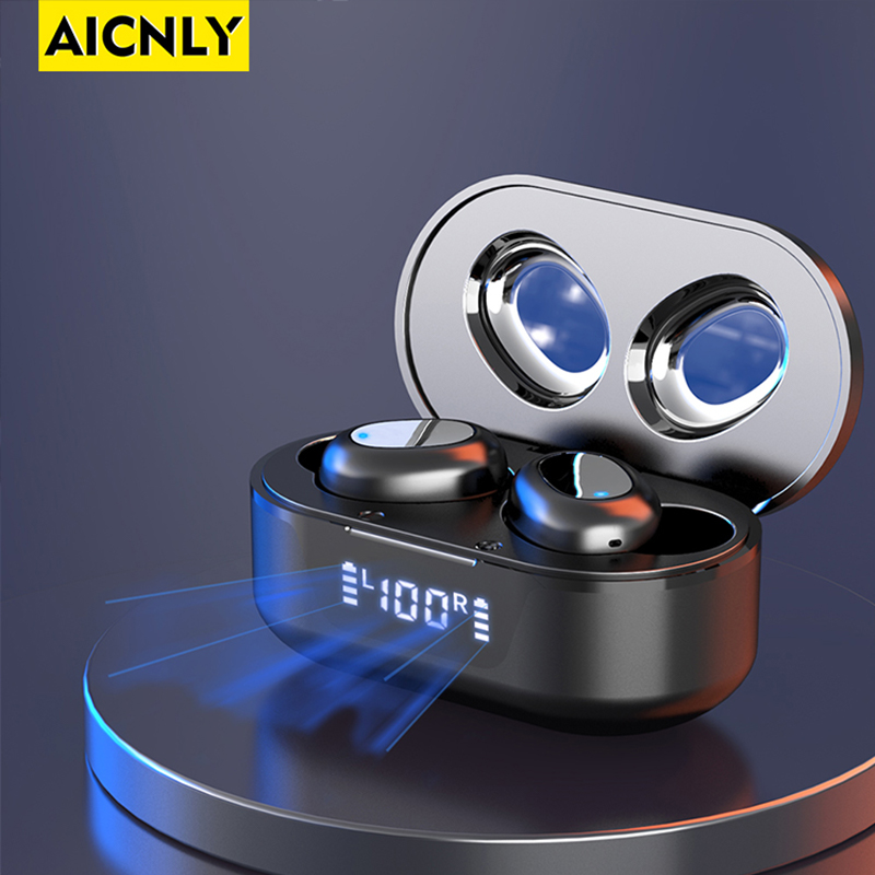 AICNLY TW16  TWS Headphones Bluetooth V5 0 3D Stereo Sports Wireless Earphones with Dual Microphone Auto connect PK I12 I90000