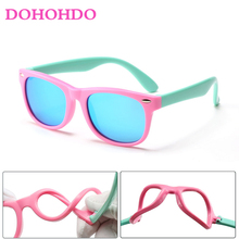 DOHOHDO 2020 New Polarized Children Sunglasses Girls TR90 Gl
