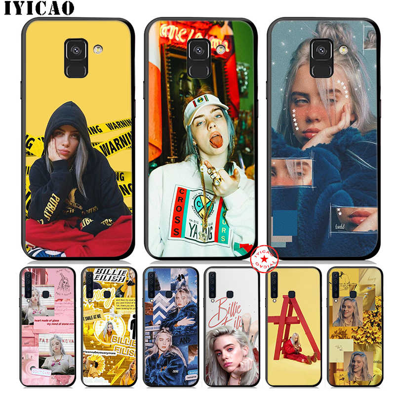 IYICAO Bilie Eilish Khalid Lovely Soft Phone Case for Samsung Galaxy A9 A8 A7 J6 A6 Plus 2018 A5 A3 2016 2017 Silicone Cover