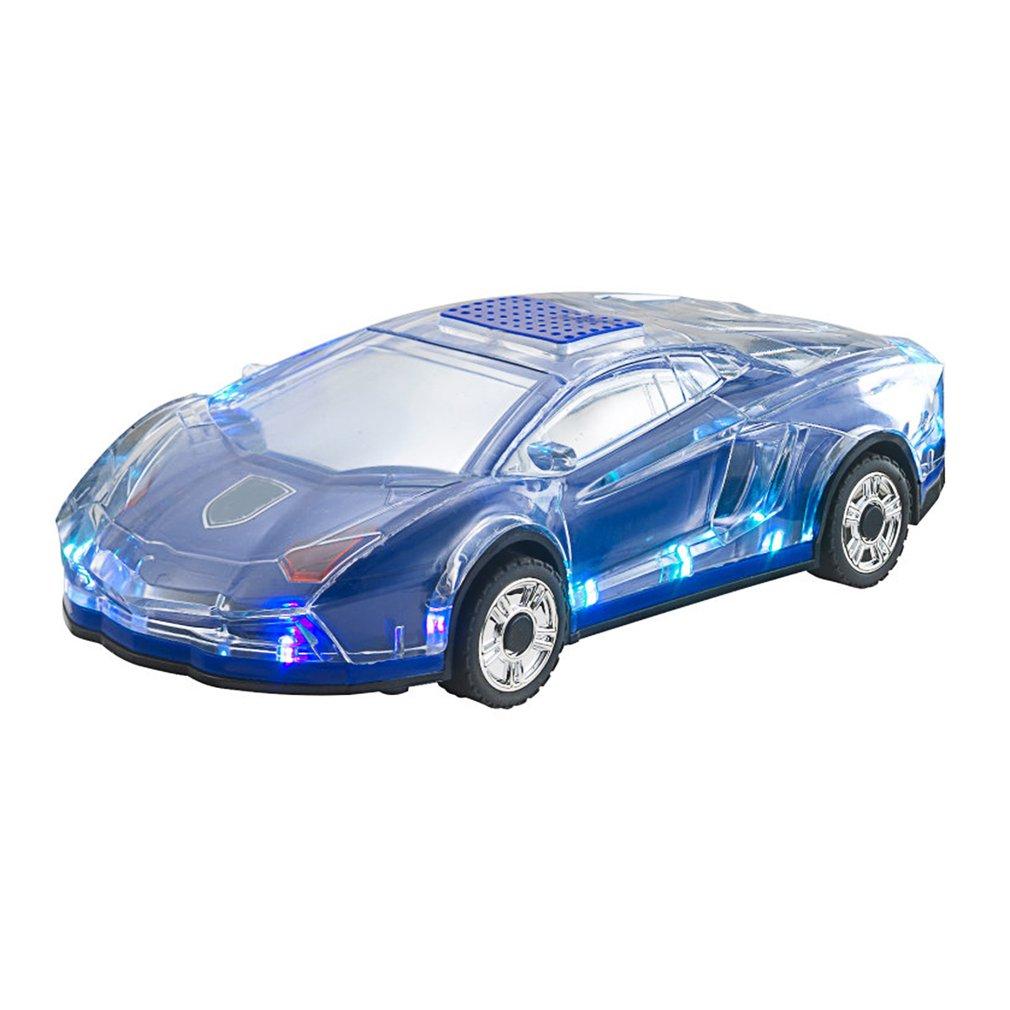 Mini Auto-förmigen Lautsprecher Bunte LED Licht-Auto Bluetooth Wireless Lautsprecher TF Karte FM Radio Handfree Subwoofer ML63
