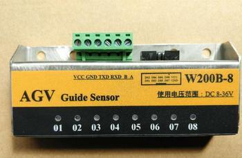 Sensor de navegación magnético AGV banda magnética de navegación RS232, RS485 compatible con salida modbus RTU-, IO