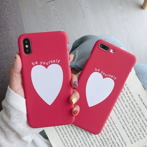 Image 1 - Phone Bag Case Accessories For iPhone X XR XS MAX 6 6s 7 8Plus Luxury Couple Love Heart Eyes Print Fashion Back Cover Capa Coque