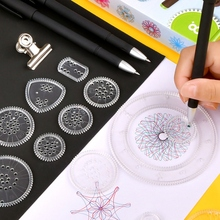 18/22Pcs Spirograph Drawing Toys Set Gears Wheels Geometric Ruler Drawing Accessories Creative Educational Kids Toy