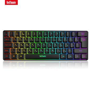 RedThunder 60% Wired Gaming Keyboard, RGB Backlit Ultra-Compact Mini Keyboard, Mechanical Feeling for PC, MAC, PS4 Gamer 1
