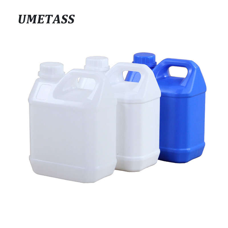 2 Liter Square Plastic Jerry Can Food Grade HDPE Gallon Bottle For Alcohol Disinfectant Shampoo Refillable Bottle 1PCS