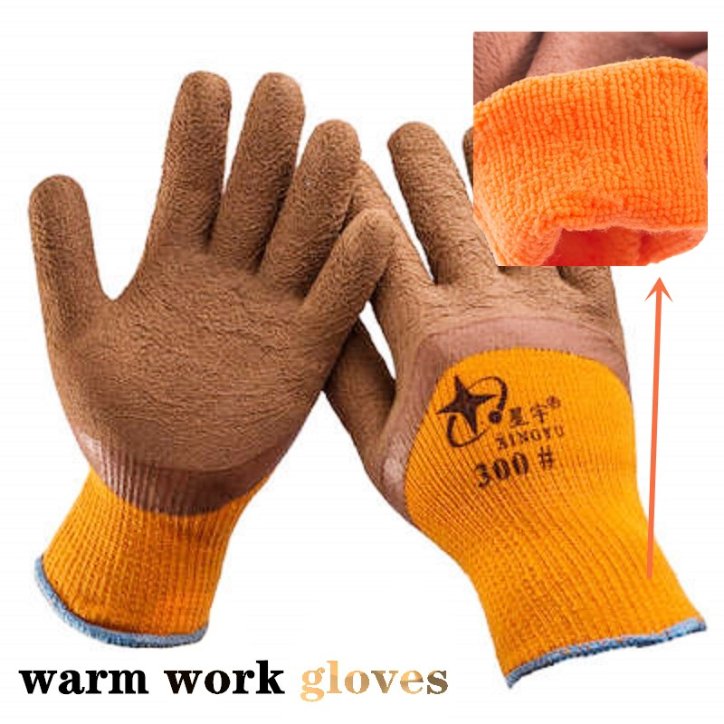 5/10 Pairs Work Thermal Gloves Warm Winter Wear Resistant Non-Slip Palm Comfortable Repair Hardware Handling Protective Gloves