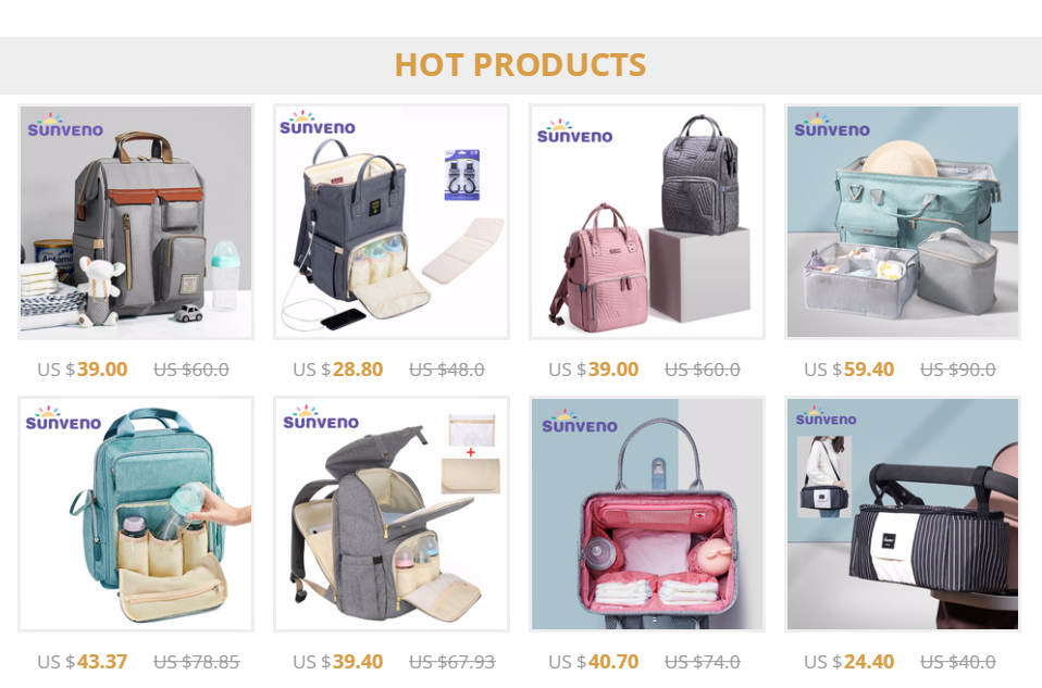 Hcbcd6ae28556423ca6e564602cbcca4cJ Sunveno Fashion Diaper Bag Backpack Quilted Large Mum Maternity Nursing Bag Travel Backpack Stroller Baby Bag Nappy Baby Care