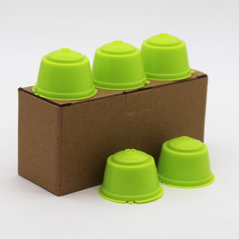 Reusable Fit For Dolce Gusto Coffee Capsule,Plastic Refillable Compatible Dolce Gusto Coffee Filter Baskets Capsules 5pcs