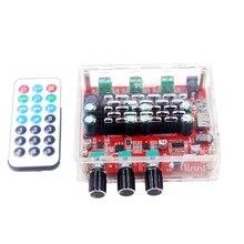 HiFi TPA3116 Subwoofer Bluetooth 4.2 amplifikatör 2.1 kanal Stereo dijital ses güç amplifikatörler kurulu 50W * 2 + 100W FM radyo USB