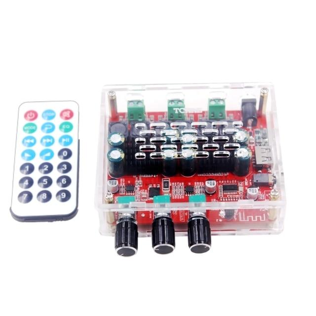 Subwoofer HiFi TPA3116 con Bluetooth 4,2, amplificador de potencia de Audio Digital estéreo de 2,1 canales, placa de 50W x 2 + 100W, Radio FM, USB
