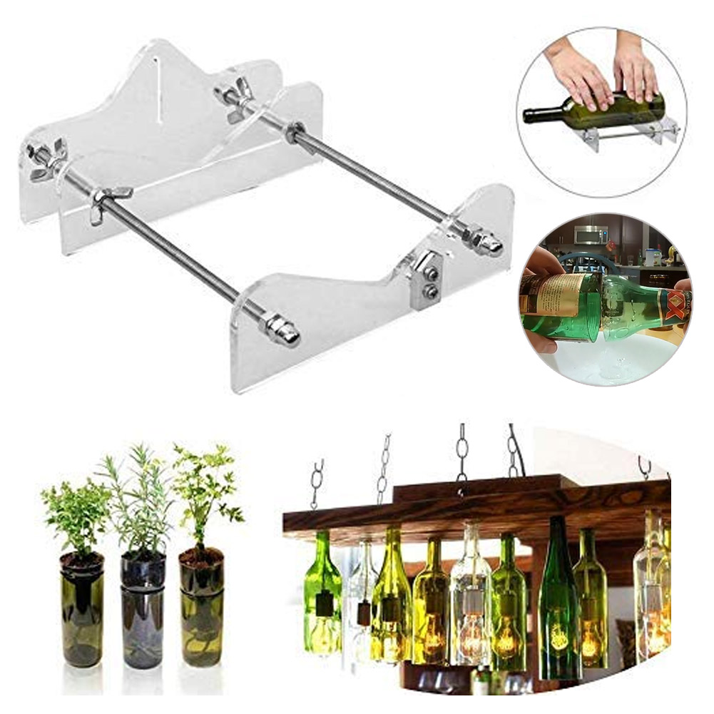 DIY Glass Bottle Cutter Machine Wine Beer Champagne Bottles Jar Cutting Tool _WK