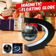 C форма светодиодный карта мира украшения магнитной левитации плавающий глобус школьные принадлежности для обучения географии домашний офис декор подарок