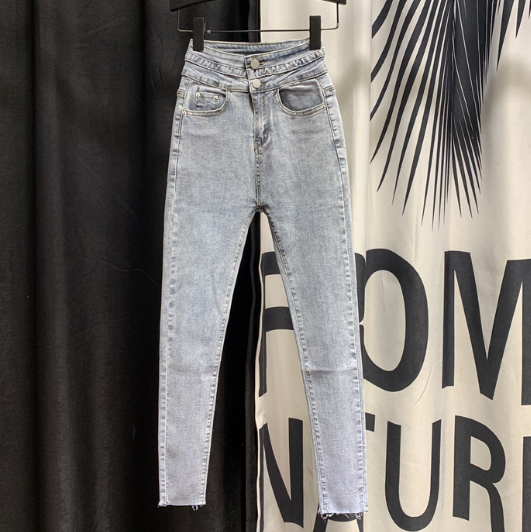Stretch Jeans Women's Jeans 2020 Spring New Korean-Style High-Waist Skinny Denim Pants High Waist Jeans Girl Lady's Jean Pants