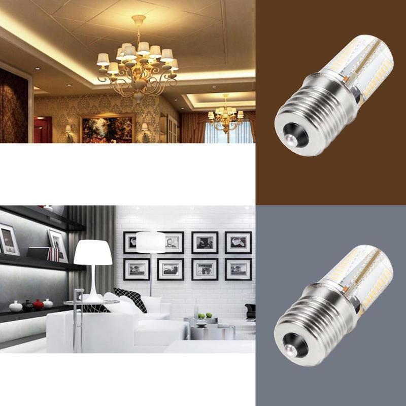 Светодиодный светильник E17 с регулируемой яркостью, светодиодный светильник для микроволновой печи, теплый светильник, белый светильник, В...