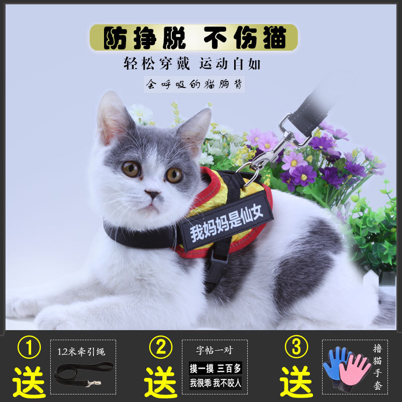 Cat Hand Holding Rope Anti-Break Free For Liu Mao Sheng Adjustable Vest Style Suspender Strap Ultra-small Dogs Anti-Lost Useful