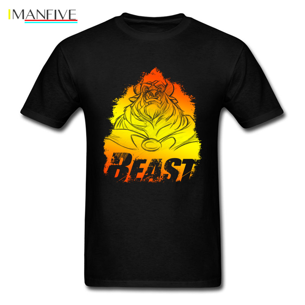 Beast Flame Sketch Tops amp Tees Men T Shirt Young Tshirts Geek Clothing Cotton Fabric T Shirt Summer Cartoon Print Oversized in T Shirts from Men 39 s Clothing