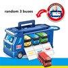 Koreański Cartoon Tayo mały autobus zestaw walizka schowek pojazdy transportowe garaż model z 3 mini tayo samochód dzieci prezent