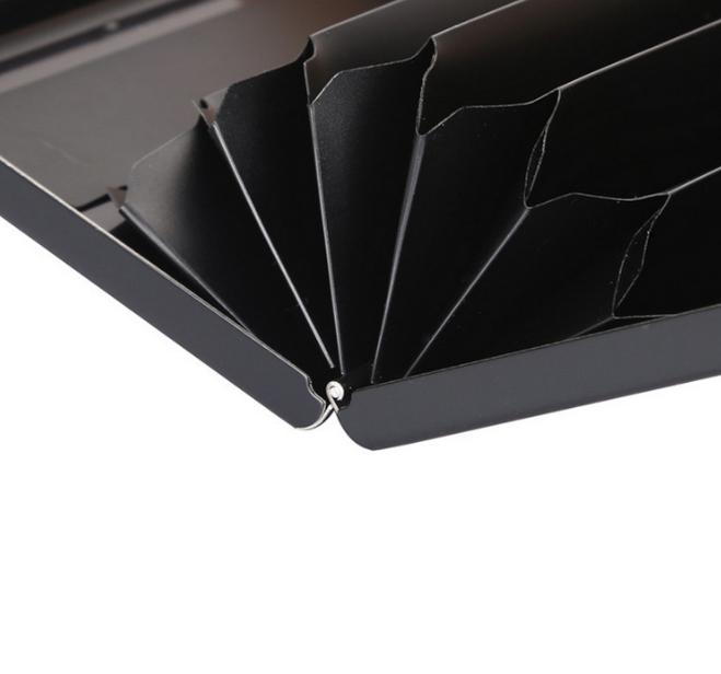 1 шт. Алюминиевый металлический держатель для кредитных карт тонкий Анти-сканирующий RFID блокирующий чехол-кошелек защита для визитных карт...