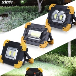 100W 50000lm Super Bright COB Led Work Light Led Portable Spotlight Rechargeable for Outdoor Lampe Led Flashlight use 2*18650