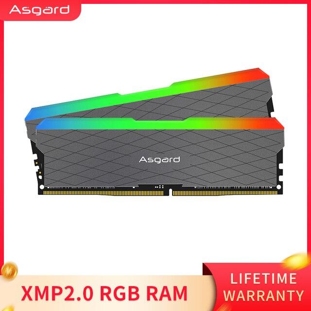 Asgard Loki w2 RGB 8 ГБ * 2 3200 МГц DDR4 DIMM 288-pin XMP Память ddr4 настольная память Rams для компьютерных игр двухканальный 5