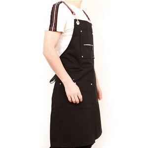 Image 5 - 2020 moda Unisex fartuch kawiarnia fartuch roboczy gotowanie przeciwporostowe fartuchy odzież robocza bez rękawów odzież do pracy