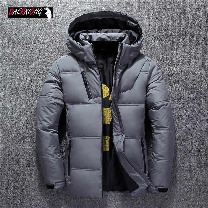 2020 Down Jackets Men Winter Jacket Men Fashion Thick Warm Parkas Fur White Duck Down Coats Casual Man Waterproof Down Jackets
