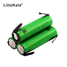 Liitokala VTC6 30A Discharge 3.7V 3000mAh 18650 Li ion Battery   US18650VTC6 + DIY Nickel Sheets