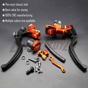 Image 1 - CNC 17,5 RCS Motorrad Bremse Master Zylinder Kabel kupplung Radial Brems Pumpe 22mm Universal Für Honda Yamaha Kawasaki Suzuki