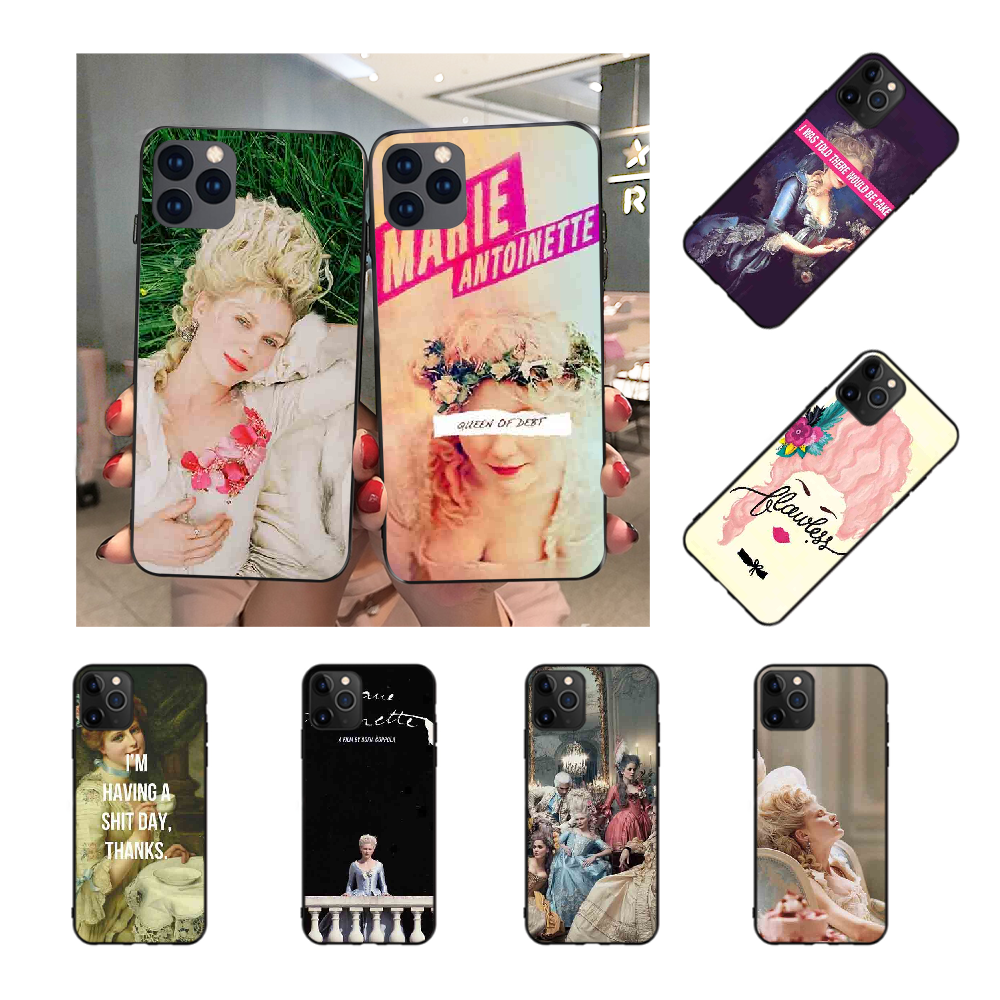 NBDRUICAI Marie Antoinette TPU Soft Silicone Phone Case Cover for iPhone 11 pro XS MAX 8 7 6 6S Plus X 5S SE XR case