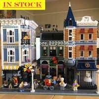 15019 Street View Creator Serie Montage Platz Romantische Restaurant Bausteine 10272 16008 15037 10255 15042 15006 15001