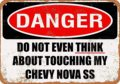 12x8 металлический знак-Do Not Touch My chevy-новы СС-Винтаж декоративный жестяной знак
