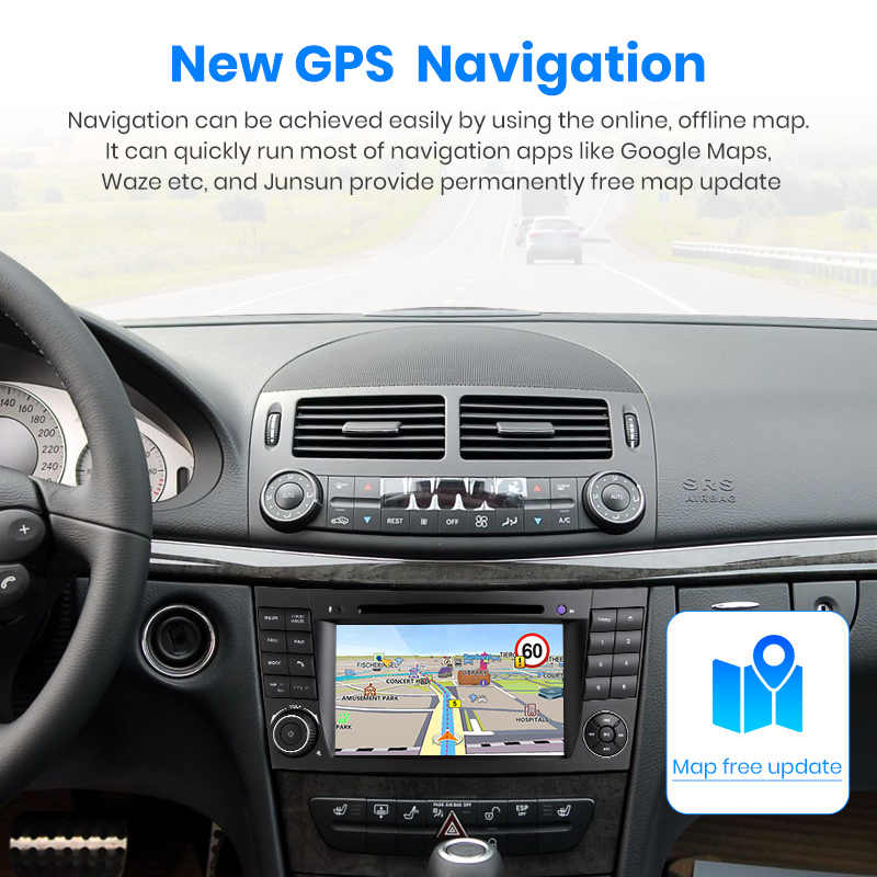 Junsun Android 9.0 Dsp 2G + 32G Voor Mercedes Benz E-Klasse W211 E300 Cls/W219 auto Multimedia Speler Radio Gps Dvd Carplay Fm Rds