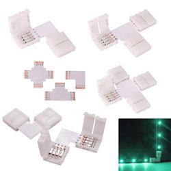 Светодиодный разъем l-образной формы 4-контактный разъем 10 мм тест-полоски для полосы 4-проводная правой кнопкой мыши угол Быстрый сплиттер д...