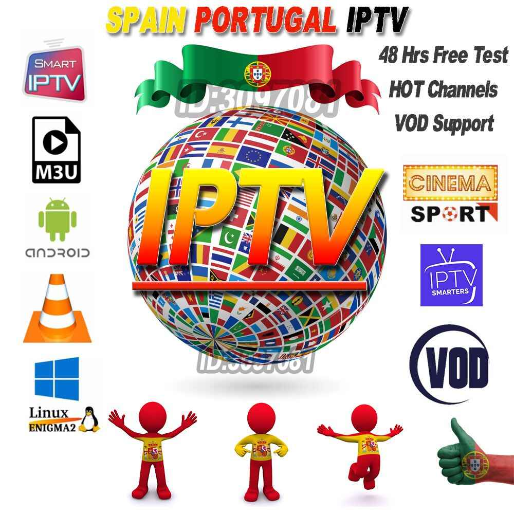 Free Test IPTV Spain Subscription 1 Year IPTV Portugal IPTV Subscription M3U with Germany France for Smart TV Enigma2