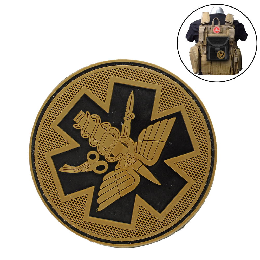 Tactical PVC Patches Camping Military Army Armband Backpack Luminous Badges Patch For Hiking Safety Survival Pouch Kit