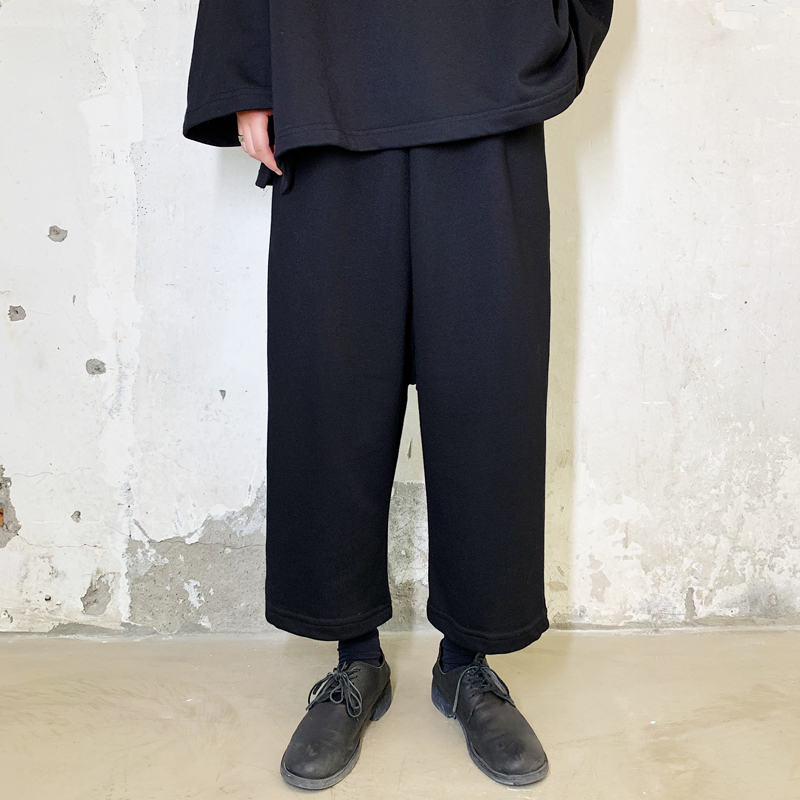 Men Elastic Waist Loose Casual Wide Leg Pants Male Japan Streetwear Hip Hop Gothic Harem Trousers Joggers Sweatpants