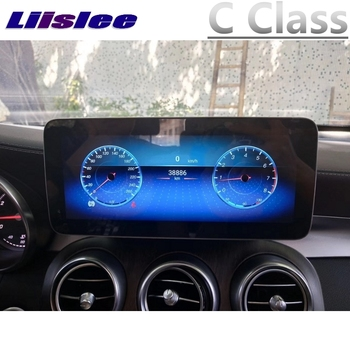 For Mercedes Benz MB C Class W205 2014~2018 Liislee Car Multimedia Player NAVI CarPlay Adapter Car Radio Screen GPS Navigation image