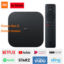 Xiaomi Mi TV, pudełko S 4K HDR Android 8.1 2G + 8G WIFI BT 4.2 odtwarzacz mediów strumieniowych Netflix YTB Google Cast IP TV, pudełko wersja globalna