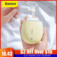 Baseus mini aquecedor de mão portátil aquecedor recarregável acessível bolso 4000 mah powerbank usb luz noturna casa viagem aquecimento