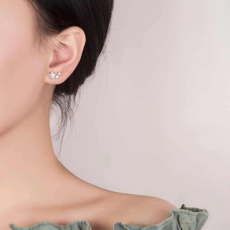 925 スターリングシルバー針女性ジュエリーファッションかわいいシックな女子校生キッズ女性ギフト pendientes ため oorbellen