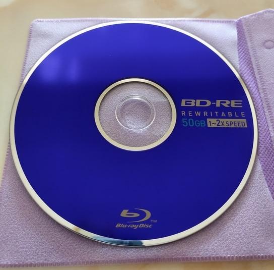 Free Shipping  Blue Ray Disc BD-RE DL 50GB  BDR 50g  2X 5pcs/lot