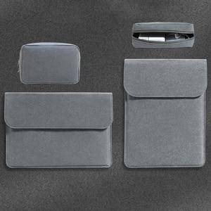 Image 5 - Sac Slim en cuir pour ordinateur portable 13.3 à manches 15.4 16 pouces, pour Xiaomi Macbook Air, housse 11 12 Pro 15, housse pour HP Pavilion X360 13