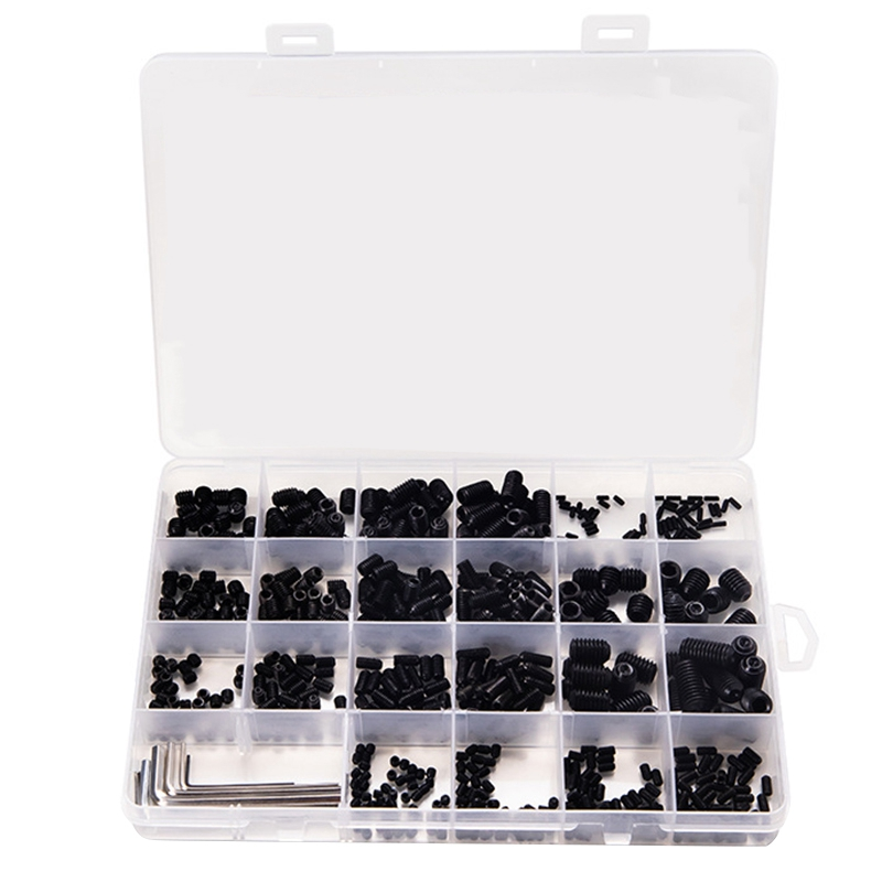 666Pcs Set Screw Cup Point Grub Screw M2 M3 M4 M5 M6 M8 Hex Socket Set Screws Hexagon Headless Set Screw