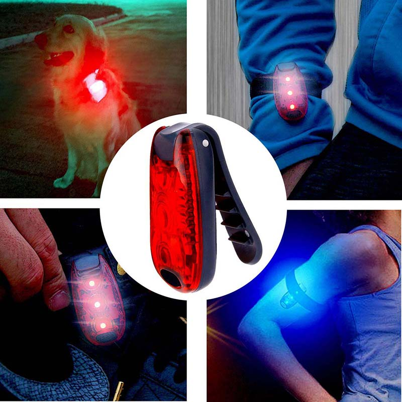 1pc Led Warning Flash Light Safety Light Strobe Lights For Daytime Running Walking Bicycle Bike Kids Child Woman Dog Pet Runner