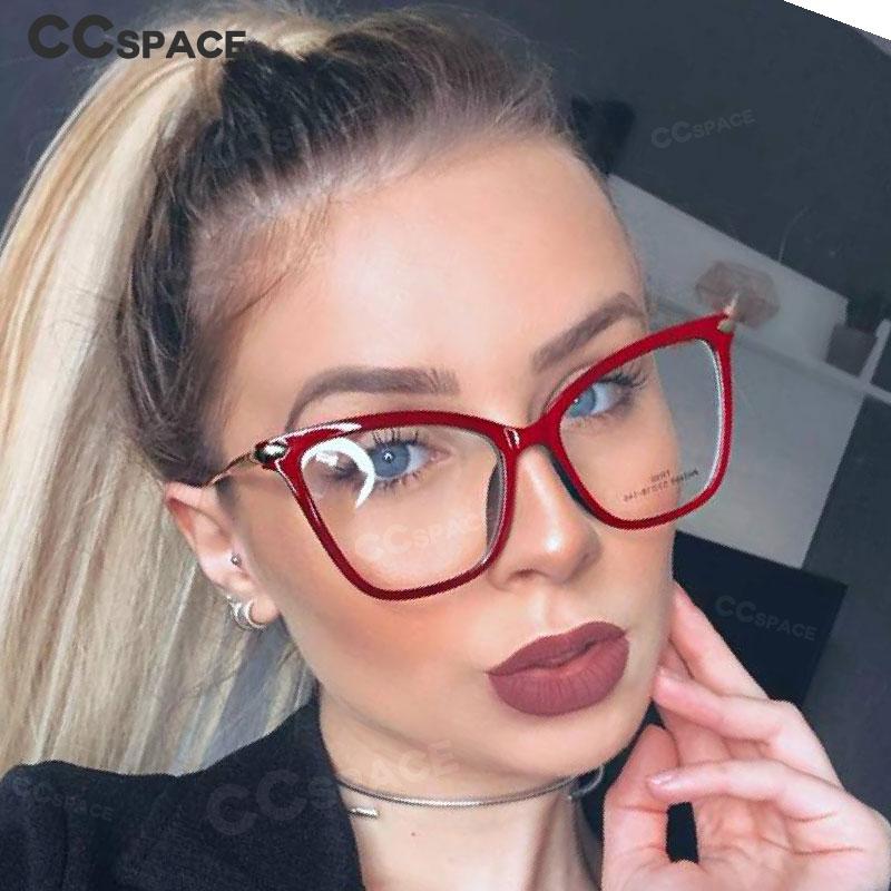 45918 TR90 Big Cat Eye Glasses Frames Men Women Optical Fashion Computer Glasses