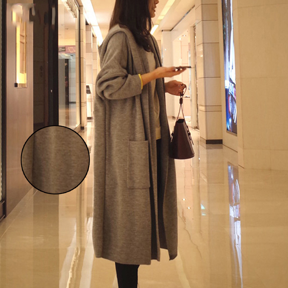 Outwear Long Warm Comfy Coat Trendy Solid Color Sweater