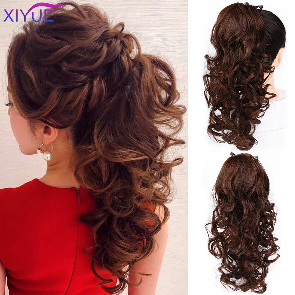 High Temperature Matte Synthetic Clips In Ponytail Hair Extension Fake Ponytail Hairpiece For Women Black Brown Tail Hair Extens