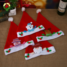 Christmas Hat Red Doll Santa Snowman Child Family Decoration