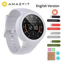 """Angielski Huami Amazfit Verge Lite GPS inteligentny zegarek IP68 1.3 """"ekran amoled 20 dni żywotność baterii zegarek na rękę"""