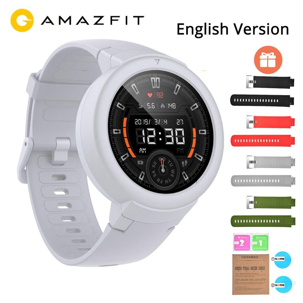 English Huami Amazfit Verge Lite GPS Smart Watch IP68 1.3 AMOLED Screen 20 Days Battery Life Wristwatch